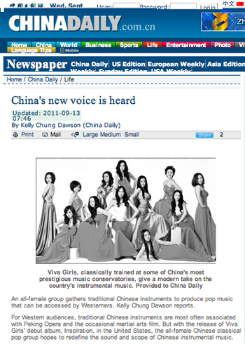 ViVA Girls on CHINADAILY